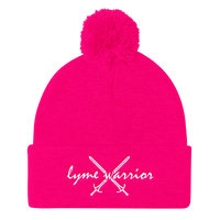 Lyme Warrior DG Pom Pom Knit Cap