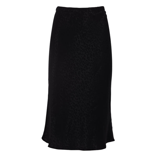 Kate Slip Skirt in Black Leopard