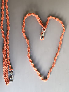 Macrame Dog Lead - Burnt Orange