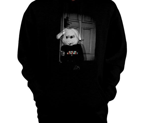 Bipolar Astronaut Bunny Pullover Hoodie