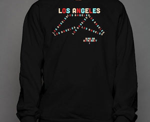 Los Angeles Experimental Pattern Crewneck Sweatshirt