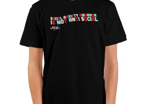 Social Anxiety Disorder Is Not Anti Social Crewneck T-Shirt