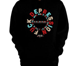 Fuck Depression Pullover Hoodie