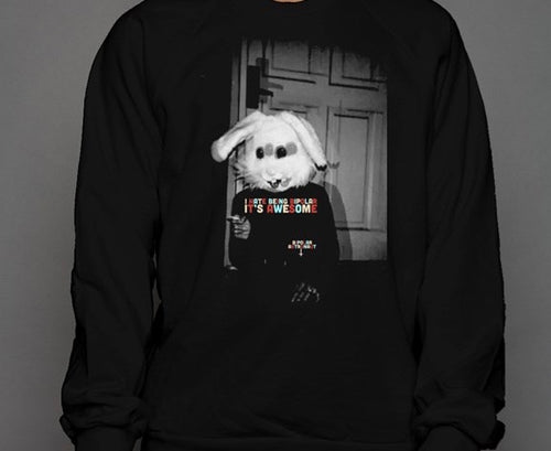 I Hate Being Bipolar It's Awesome Bunny Crewneck Sweatshirt