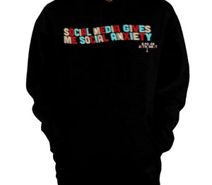 Social Media Gives Me Social Anxiety Pullover Hoodie