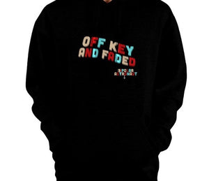 Off Key And Faded Pullover Hoodie