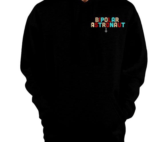 Bipolar Astronaut Small Classic Logo Pullover Hoodie