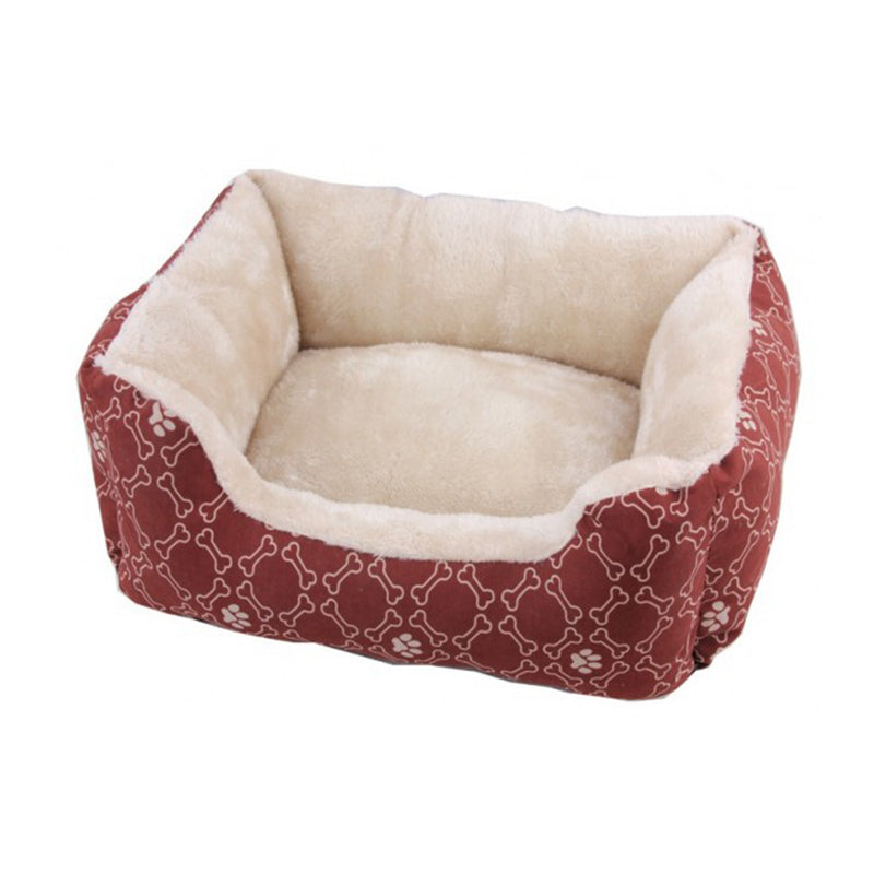 Pawise Square Dog Bed-Wine Red 25 inch