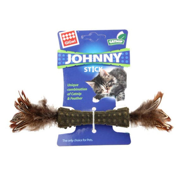 GiGwi Catnip Johnny Stick Double side Natural Feather