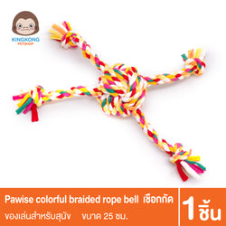 Pawise Colorful Braided Rope Ball-25cm