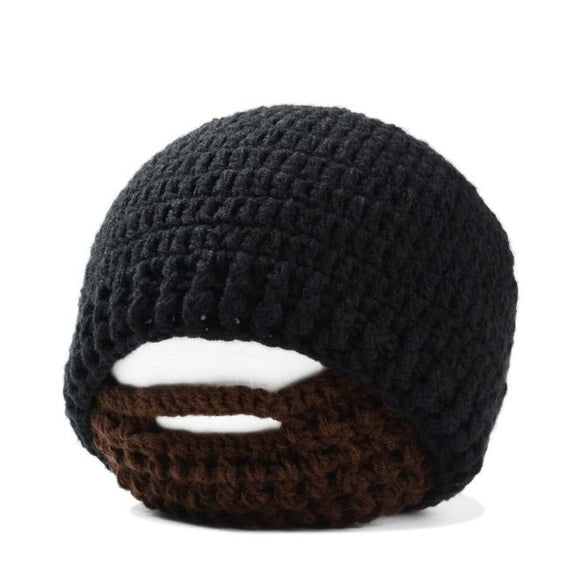 Warm Winter Women Men Fashion Punk Knit Crochet Beard Hat Beanie Mustache - Oz-Onestop Wholesales