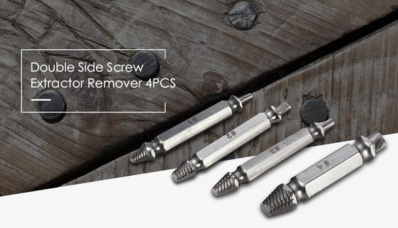 4pcs S2 Alloy Steel Screw Extractor Drill Bits Broken Damaged Bolt Remover - Oz-Onestop Wholesales