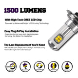 Nighteye H7 80W With CREE Car LED Lights 1500lm Fog Lamp Tail Driving Bulbs - Oz-Onestop Wholesales