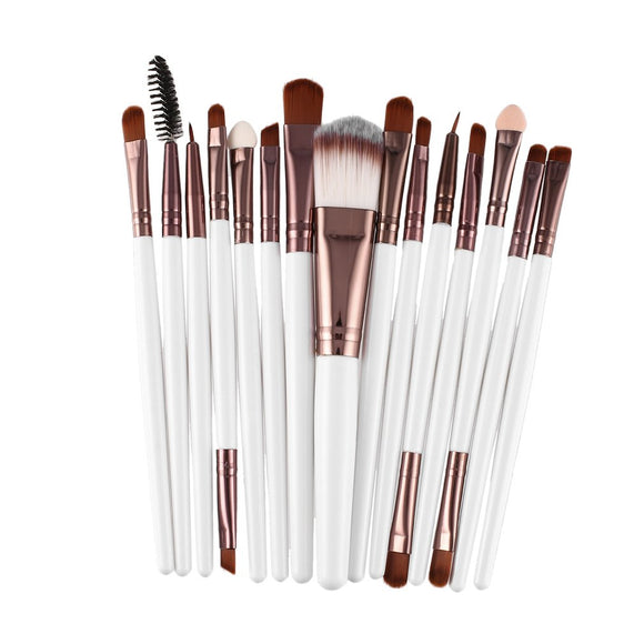 15pcs/set Makeup Brushes Sets Kit Eyelash Lip Foundation Powder Eye Shadow liner - Oz-Onestop Wholesales