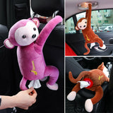 Creative Cartoon Monkey Home Office Car Hanging Paper Napkin Tissue Box Cover - Oz-Onestop Wholesales