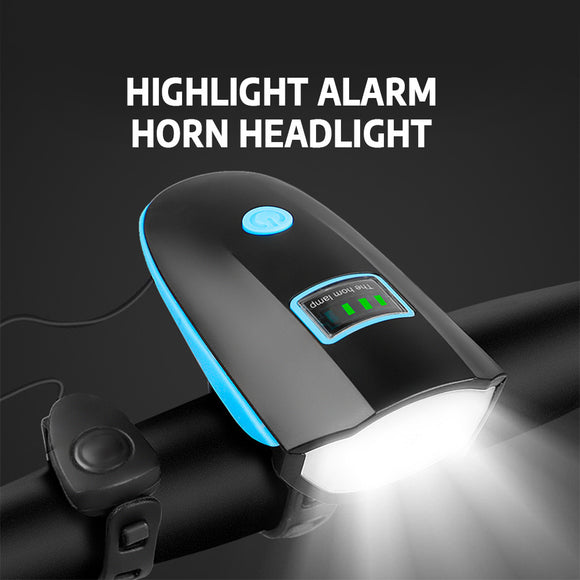 Alarm Horn Headlight for Mountain Bike Glare Flashlight Weather Resistant - Oz-Onestop Wholesales