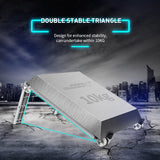 Lightweight Laptop Cooling Stand Plastic Vertical Laptop Stand Foldable Tablet /Holder - Oz-Onestop Wholesales