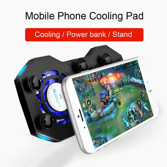 G1 Mobile Phone Cooling Pad Mute Gaming Cooler Radiator Fans With Ring Holder - Oz-Onestop Wholesales