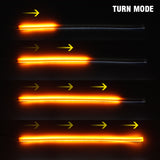 60cm Slim Amber Sequential Flexible LED DRL for Strip Light /w yellow turn signal - Oz-Onestop Wholesales