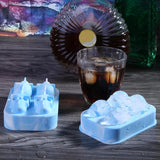1PC Large Ice Cube Tray Pudding Mold 3D Skull Silicone Mold 4-Cavity DIY Ice Maker - Oz-Onestop Wholesales