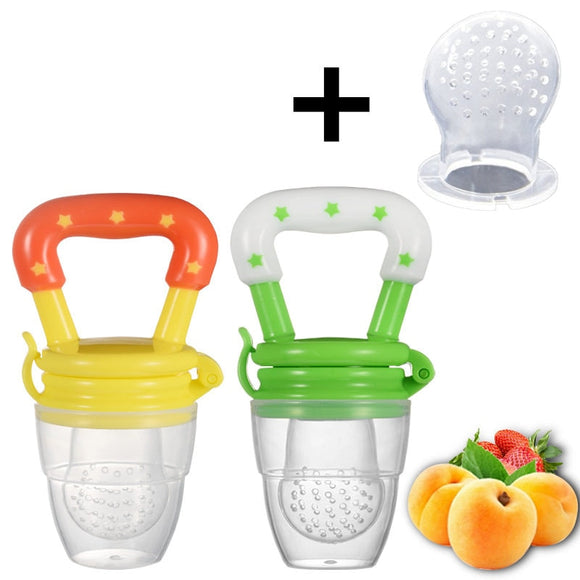 Fresh Food Nibbler Baby Pacifiers Feeder Kids Fruit Feeder Nipples Feeding Safety - Oz-Onestop Wholesales