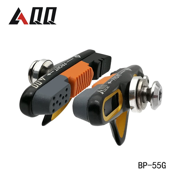 AQQ 1 Pair Road Bicycle Brake Pads Bicycle Braking V Brake Holder Shoes Rubber - Oz-Onestop Wholesales