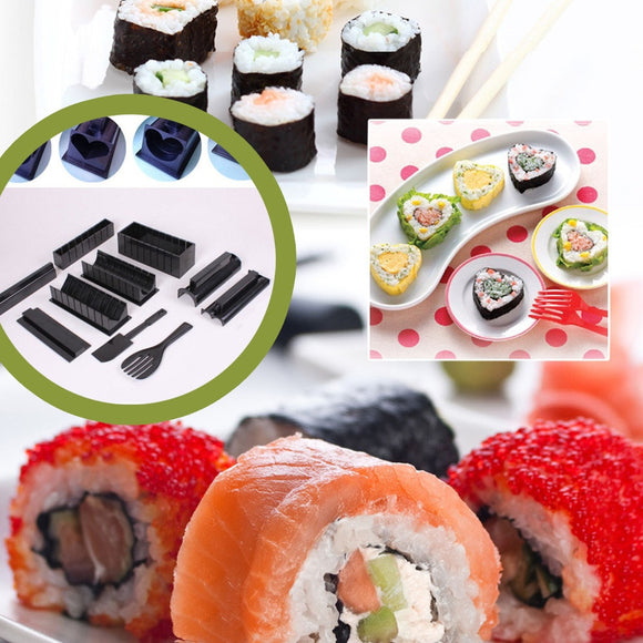 11pcs/set DIY Sushi Maker Rice Mold Kitchen Sushi Making Tool Set - Oz-Onestop Wholesales