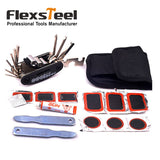 Bike Bicycle Tire Repair Kits Tools Set Rubber Patch Wrench Glue Kit Portable Bag-Packed Cycling Bicycle Repair Set - Oz-Onestop Wholesales