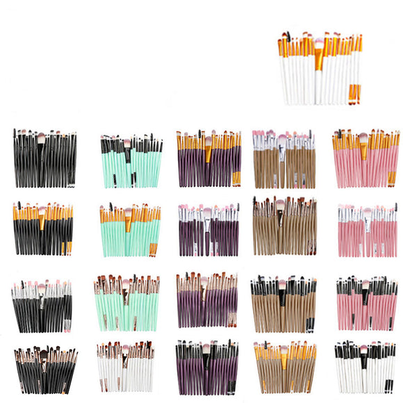 20 eye makeup brushes eyebrow brush foundation brush eye shadow lip brush - Oz-Onestop Wholesales