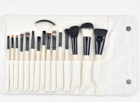JAF Studio 15-piece Makeup Brush Kit Super Soft Hair PU Leather Case Holder - Oz-Onestop Wholesales