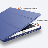 Case for iPad Soft silicone bottom+PU Leather Smart Cover - Oz-Onestop Wholesales