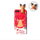 Christmas Cartoon Deer Case For iPhone XR 11 Pro XS Max X 5 5S Silicone cover - Oz-Onestop Wholesales
