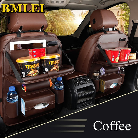 Car Seat Back Bag Folding Table Organizer Pad Drink Chair Storage Pocket - Oz-Onestop Wholesales