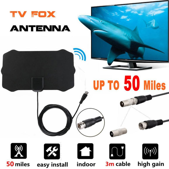 HDTV Free Cable Antenna with Signal Booster - Oz-Onestop Wholesales