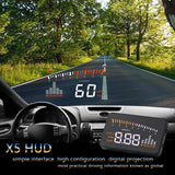 X5 Car HUD Head Up Display OBD II EOBD Automatic Matching Overspeed Warning - Oz-Onestop Wholesales
