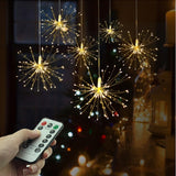 Festival Hanging Starburst String Lights 100-200 LED DIY firework Copper Fairy - Oz-Onestop Wholesales