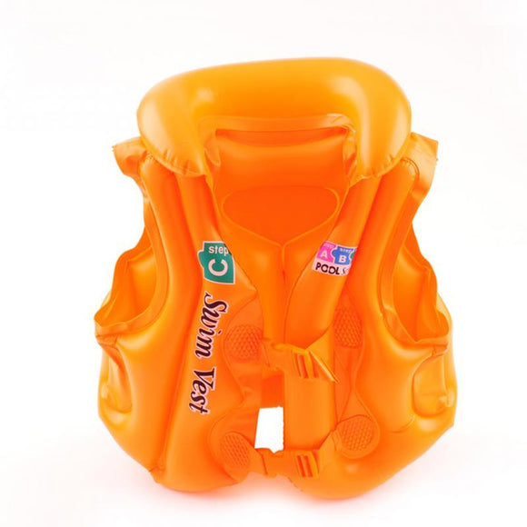 Float Inflatable Swim Vest Life Jacket Swimming Aid For Age 3-6 - Oz-Onestop Wholesales
