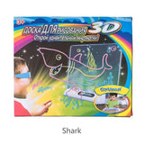 Magic Pad Deluxe Light Up LED 3D Drawing Tablet Writing Board Kids Toys Gifts 3D, kid - Oz-Onestop Wholesales, specialising in Consumer products, camera lens, sports, gadgets, electronics, security alarm & CCTV system solutions for home, office, domestic, commercial, and retails.