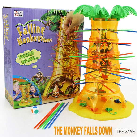 Kids Educational Toys Dump Monkey Falling Monkeys Board Game Family - Oz-Onestop Wholesales