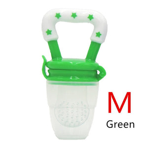 1PC Baby Teether Nipple Fruit Food Mordedor Bite Silicone Teethers Safety Feeder 4-12M - Oz-Onestop Wholesales