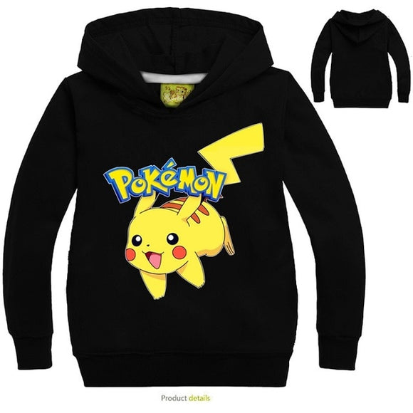 2-12Years Costume Pokemon Go Girls Hoodies /Sweatshirts Children Boy Sport - Oz-Onestop Wholesales