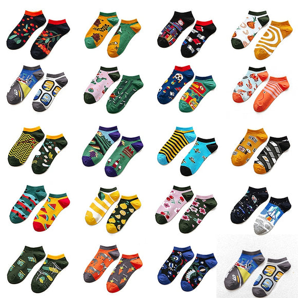 Trendy happy Socks men Cotton Boat Man Socks Interest Funny Originality Series - Oz-Onestop Wholesales