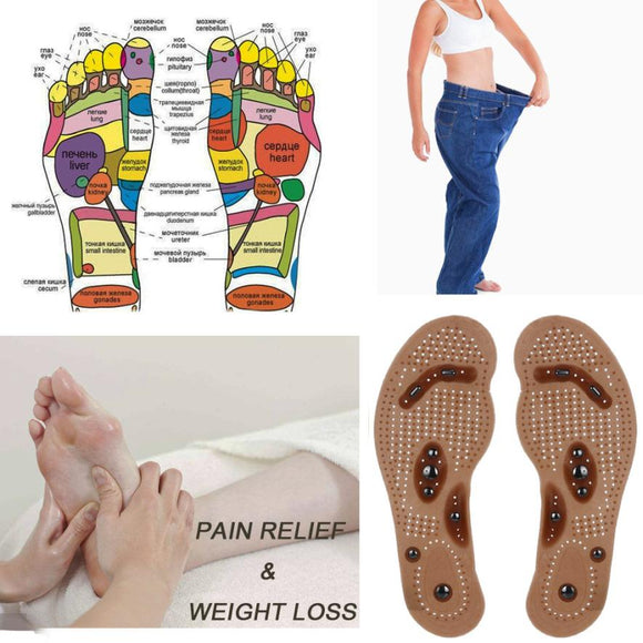 Foot Care Cushion Slimming Gel Pad Therapy Acupressure cushion insole Magnetic - Oz-Onestop Wholesales