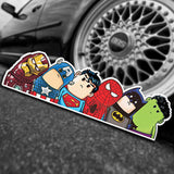 The Avengers Wry Neck Car Sticker Cartoon Reflective Car Styling Sticker Motorcycle - Oz-Onestop Wholesales