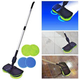 Stainless Steel Chargeable Electric Mop Hand Push Sweeper Cordless Household - Oz-Onestop Wholesales