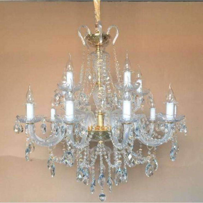 Marchand 15 Light Royal Crystal Chandelier, 2 Colour Options - crystal-palace-lighting