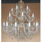Marchand Royal 24 Light Crystal Chandelier, 2 Colour Options - crystal-palace-lighting