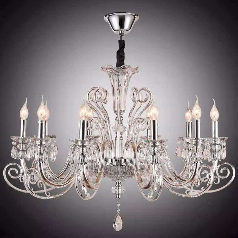 Marchand Diana 10 Light Crystal Chandelier - crystal-palace-lighting