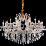 Olivia 18 Light Crystal Chandelier in Gold and Clear - Crystal Palace Lighting