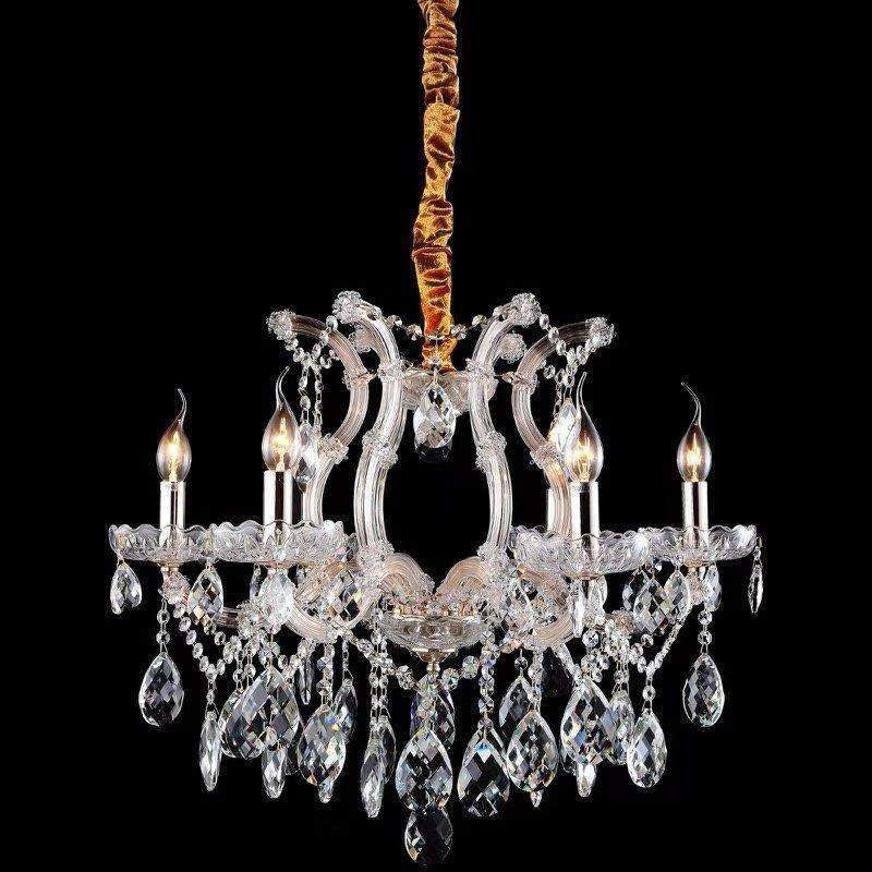 Marchand Alexandra 6 Light Crystal Chandelier with Clear Crystals - Crystal Palace Lighting